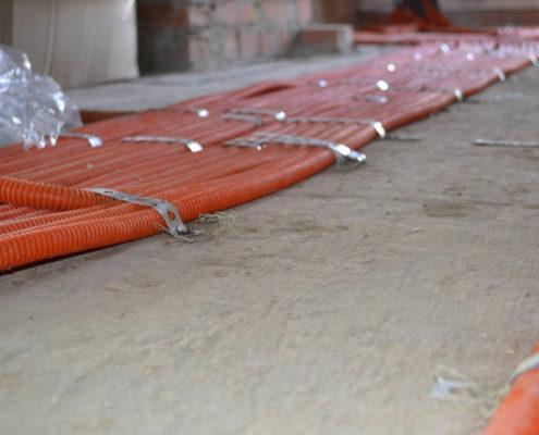 прокладка электрики по полу