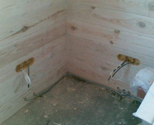 изоляция проводки в бане