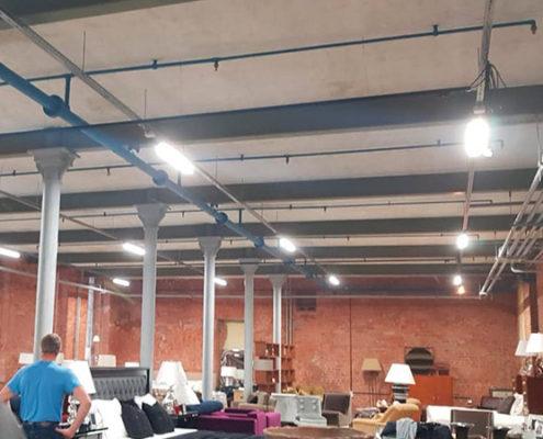 рабочее освещение в офисе